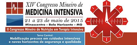 Logo XIV Congresso Mineiro de Medicina Intensiva.