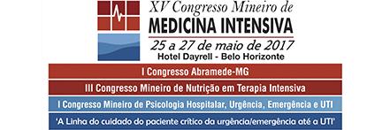 Logo XV Congresso Mineiro de Medicina Intensiva.