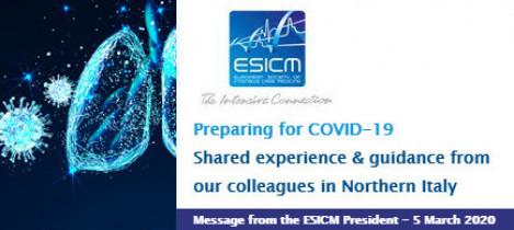 Sociedade Europeia de Medicina Intensiva divulga carta compartilhando as lições aprendidas na Itália com a COVID-19