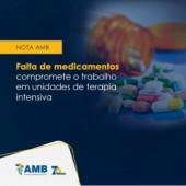 Nota Oficial AMB falta de medicamentos