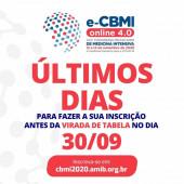 Estamos nos aproximando do E-CBMI 2020